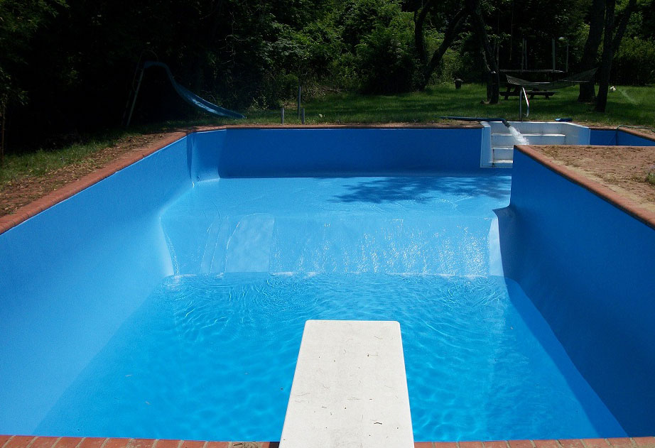 Pool liner after a Suffolk Liner replacement